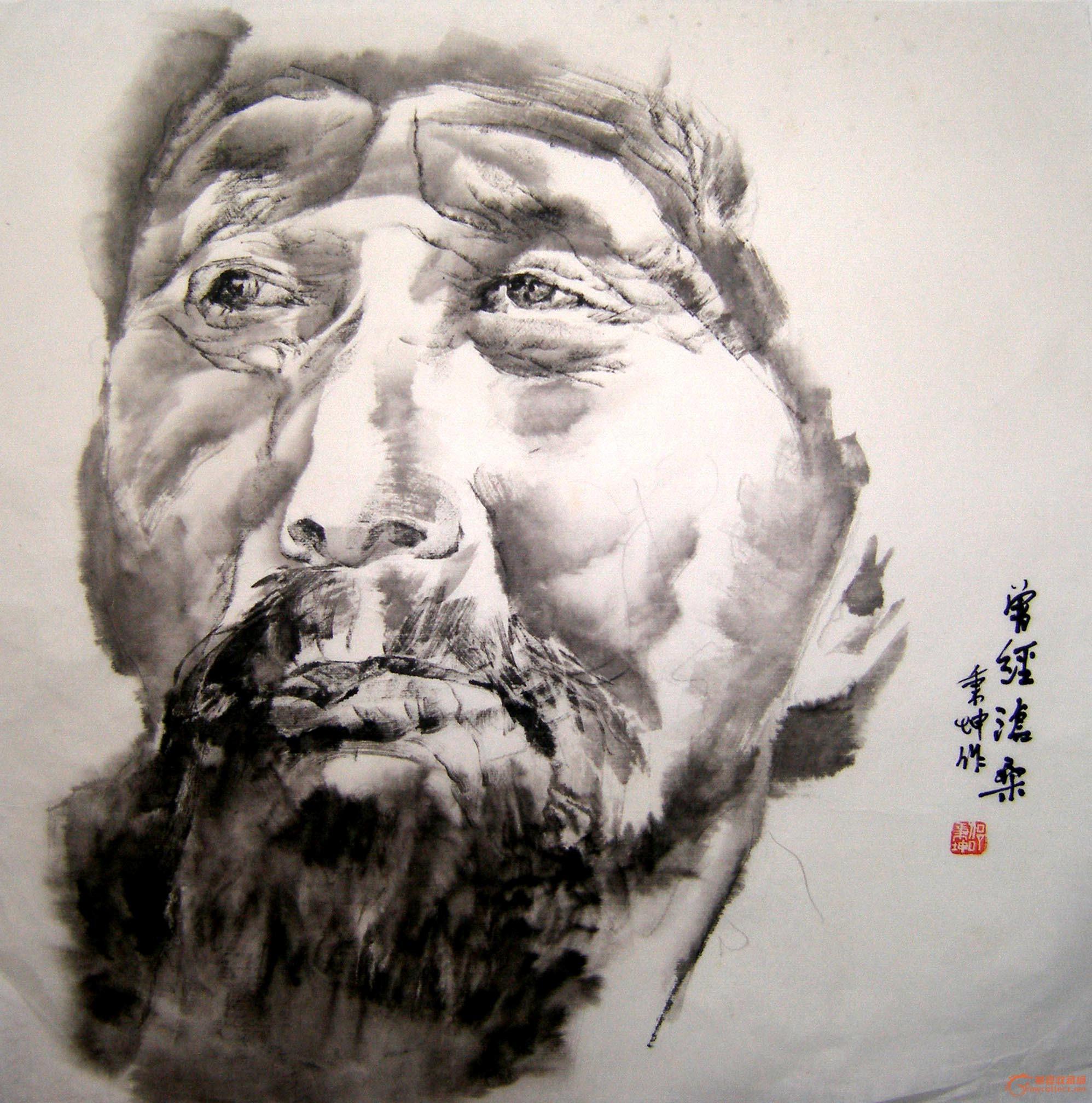 邵秉坤水墨肖像人物画展在杭举办 新闻标题:邵秉坤水墨肖像人物画展在