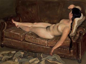 陈丹青《旧皮沙发》赏析