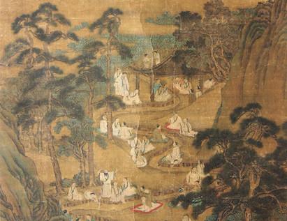 2012北京嘉禾瑞丰国际冬拍--兰亭修禊图 立轴 绢本