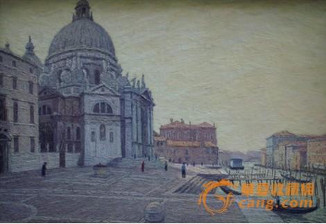 风景油画掀收藏热潮 巴黎美爵古欧洲建筑油画被关注