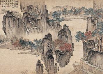 2007北京保利秋拍--渔梁红叶图 手卷