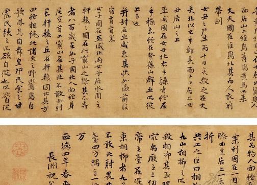 2011北京瀚海春拍--祝允明-行楷书海外西经卷