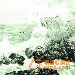 市场资讯 名家动态 > 正文  他笔下的大海礁石突兀,海浪排空,海鸥翔集