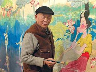 黄永玉年近90身体硬朗 靠绘画养活了其他爱好