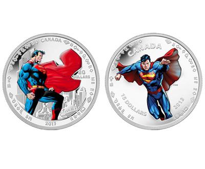"""纪念""""超人""""诞生75周年 加拿大发行纪念币"""