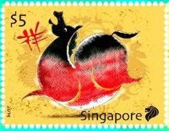 新加坡马年纪念邮票遭吐槽:马腹圆鼓鼓像烧鸡