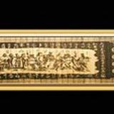 仿古工艺品 仿古竹雕 竹竹雕三十六计沁园春文房四宝永和九年