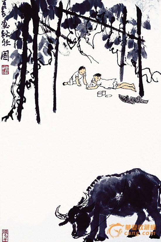 李可染在广州画了第一张《万山红遍》