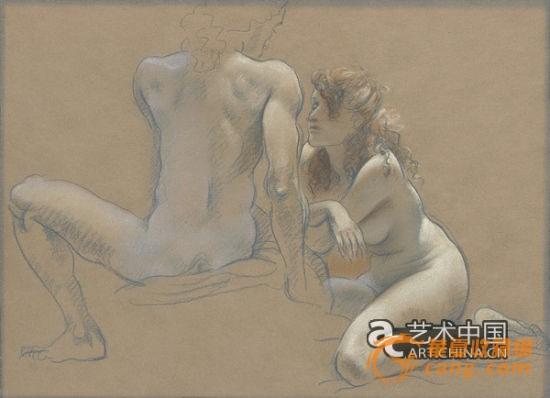 温润――写在陈丹青色粉人体作品展前