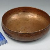 062紫铜�m目平老建水-直径15高4cm200克