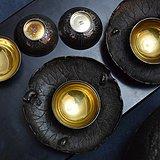 89天宝堂纯银内涂金小茶杯酒杯五客精品-直径5cm共90克