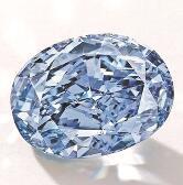 最大椭圆形鲜彩蓝钻将拍卖 10克拉估价约合人民币2亿元