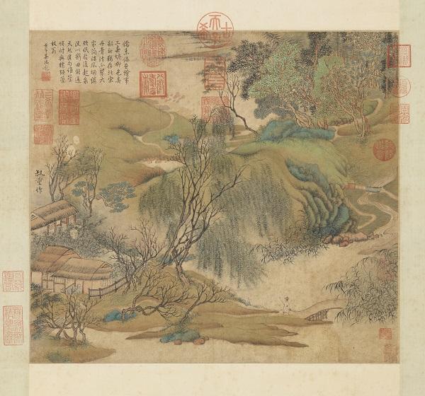乾隆南巡一直题画不倦 看看挤满他题跋的《富春山居图》赝品