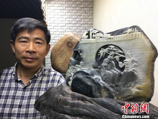 """""""草根""""艺术家40载醉心滦河石雕刻""""点石成金"""""""