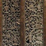 漂亮清早木雕花窗\单扇花窗尺寸145\40厘米
