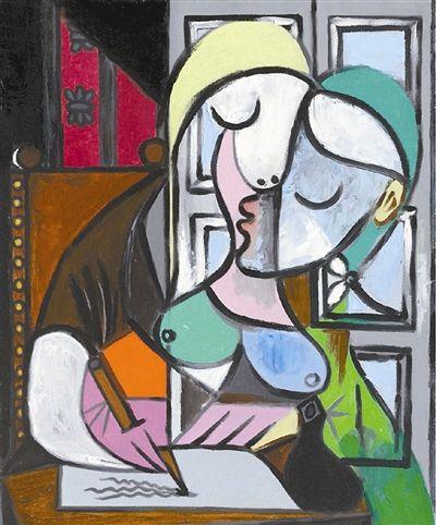毕加索《写信的女人》 成为佳士得印象派第二高价
