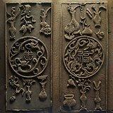 两片漂亮清代木雕 单片高75厘米宽38厘米