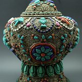 宏乐珠宝累丝宝罐工艺精美 镶嵌宝石 全品可成对买
