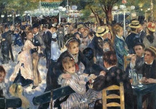 雷诺阿名画在拍卖行展出时被人盗窃