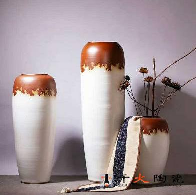 欧式落地大花瓶 陶瓷花插摆件