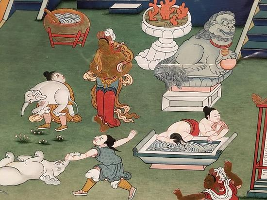 中国美术馆展示青海唐卡艺术:火一样的安多唐卡