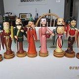 文革彩绘木偶八仙人物