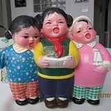 文革无锡惠山泥塑《我爱北京天安门》