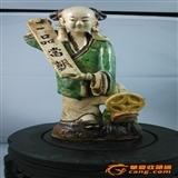 光绪石湾窑一品当朝瓷塑