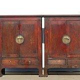 清中期榆木书柜