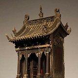 楠木古建式描金佛龛