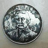 民国十八年孙中山背双旗地球试铸样币