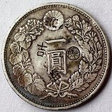 86:小日本民治二十九年一圆龙洋币