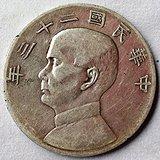89:中华民国二十三年壹圆帆船币孙中山
