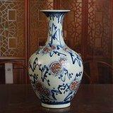 新中国计划经济时期青花釉里红瓷器  柴窑