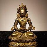 清铜鎏金度母像