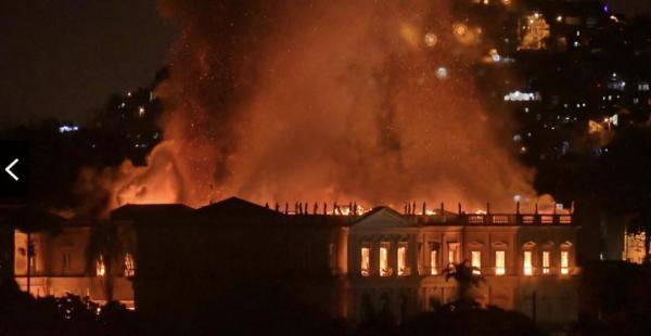 """巴博物馆大火:被""""连根切除""""的百年记忆"""