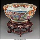 出口粉彩官瓷碗