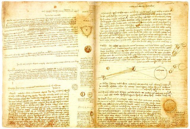 达・芬奇逝世500周年,三大手稿首次齐亮相