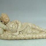 磁州窑 宋代白釉佛祖卧睡雕塑卧像
