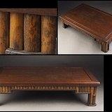 69老红木侧嵌斑竹小茶桌炕几花台