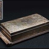 80老檀木包银银制手工雕刻烟具盒盘精品奢侈品