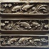 清代早期三片花板木雕\单片42厘米12厘米