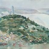 侯秉钧《延安宝塔山》对开 水彩 2006年