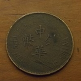 民国十三年造察哈尔中华铜币背嘉禾双枚