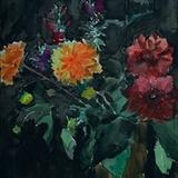 关维兴花卉水彩39.5乘27cm 1991年